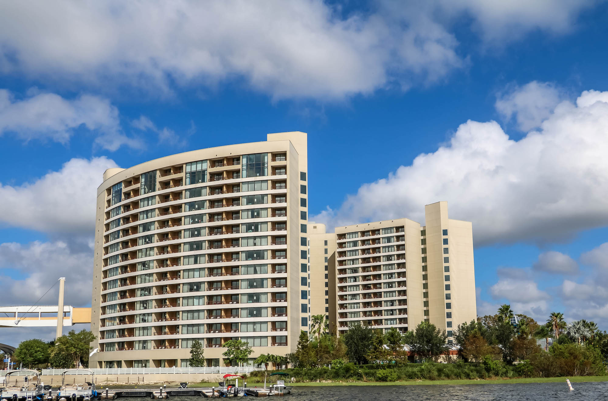 Disney DVC Bay Lake Tower exterior view of resort